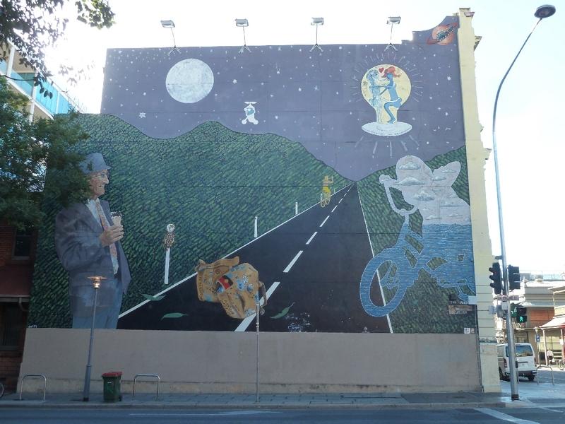 Daubist mural no.1, Frome Street, 2014