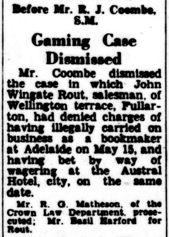 """Gambling Case Dismissed"", The Advertiser,"
