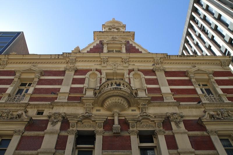 A detailed facade