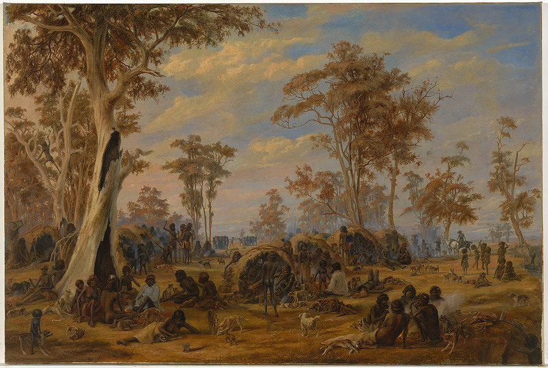 'Adelaide, a tribe of natives on the banks of the River Torrens', 1850