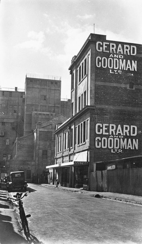 A view of the Gerard & Goodman Buildings from Synagogue Place, c1928.