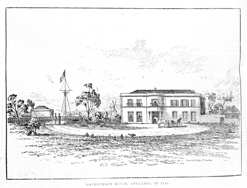 Government House, Adelaide, 1845