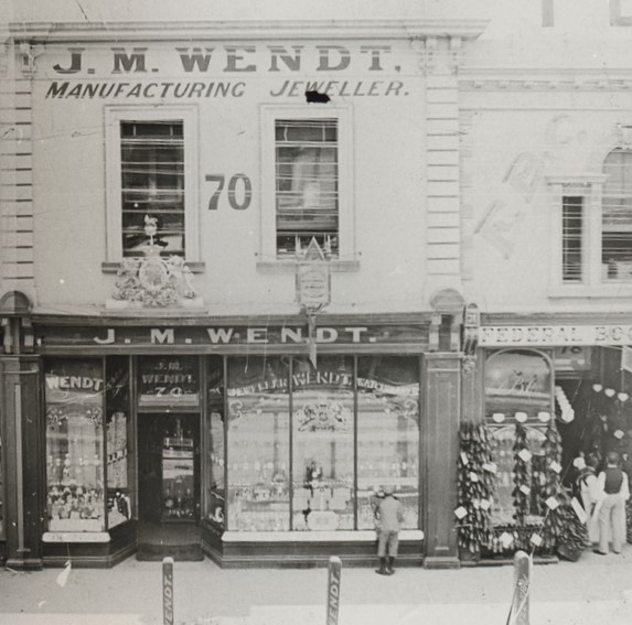 Wendts Jewellers in Rundle Street c. 1920