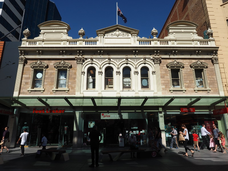 The former showrooms of Clarkson Limited, now part of Rundle Mall.