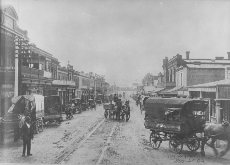 Market Day, Rundle Street, 31 August 1903