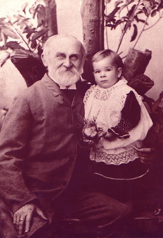 (Carl) Gustav Joachimi with grandson Rudolph, c 1895.