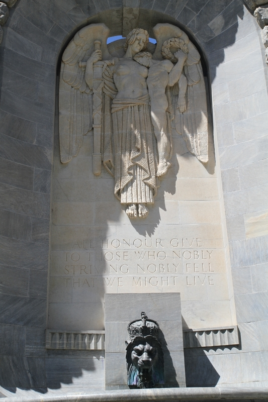 National War Memorial, Angel and Soldier, North Terrace, 2014