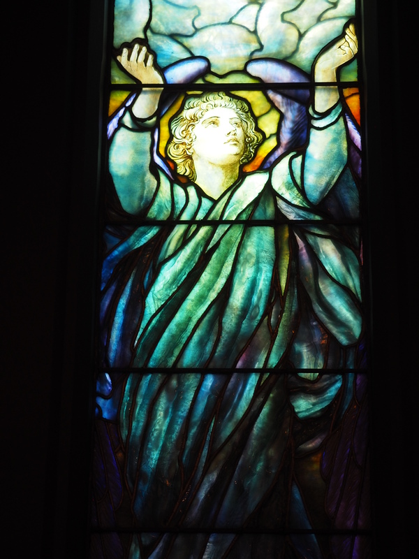 Detailed view of the <em>Angel of Faith </em>window