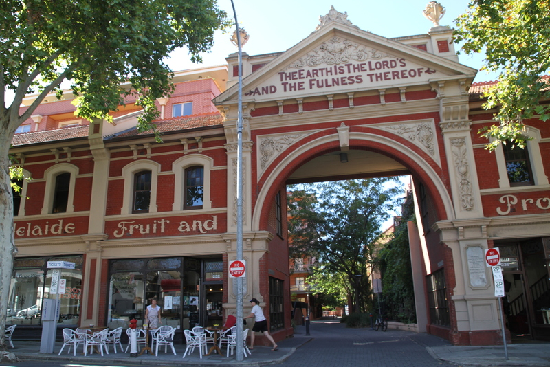 Adelaide Fruit and Produce Exchange, Grenfell Street facade