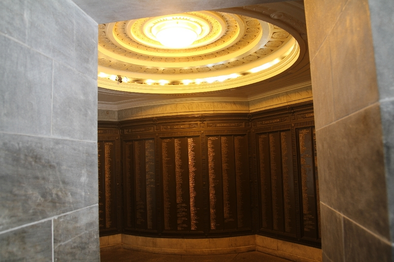 National War Memorial, Interior, North Terrace, 2014