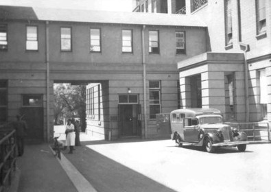 Royal Adelaide Hospital Casualty Entrance, c1950