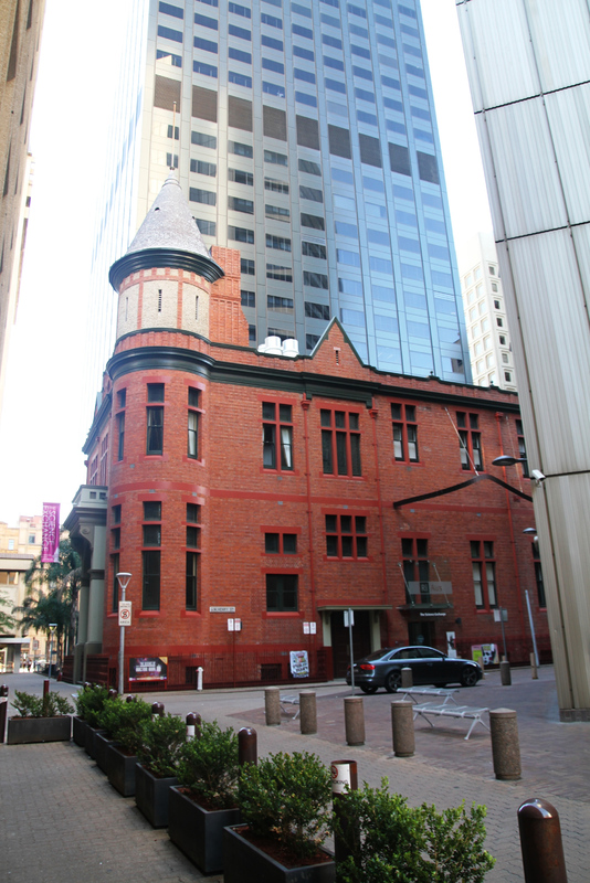 The Federation Edwardian building is one of the few remaining of this architectural style in the city.