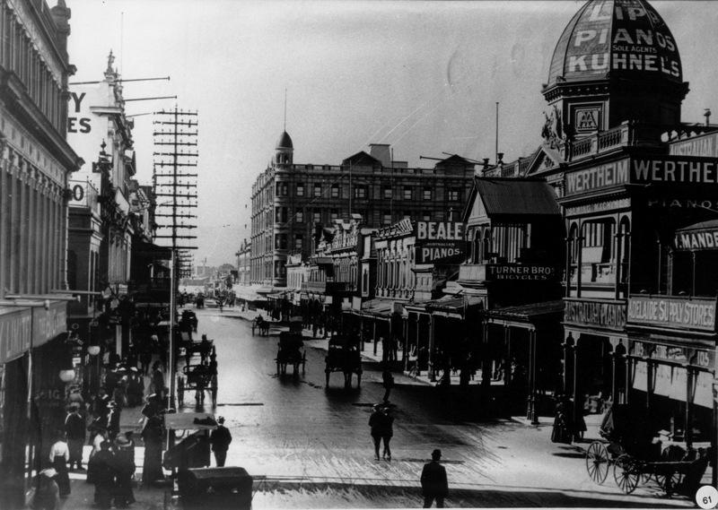Rundle Street looking east, 1911