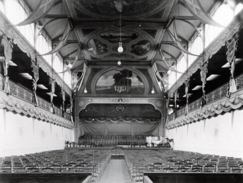 An interior view of the Jubilee Exhibition Building, North Terrace