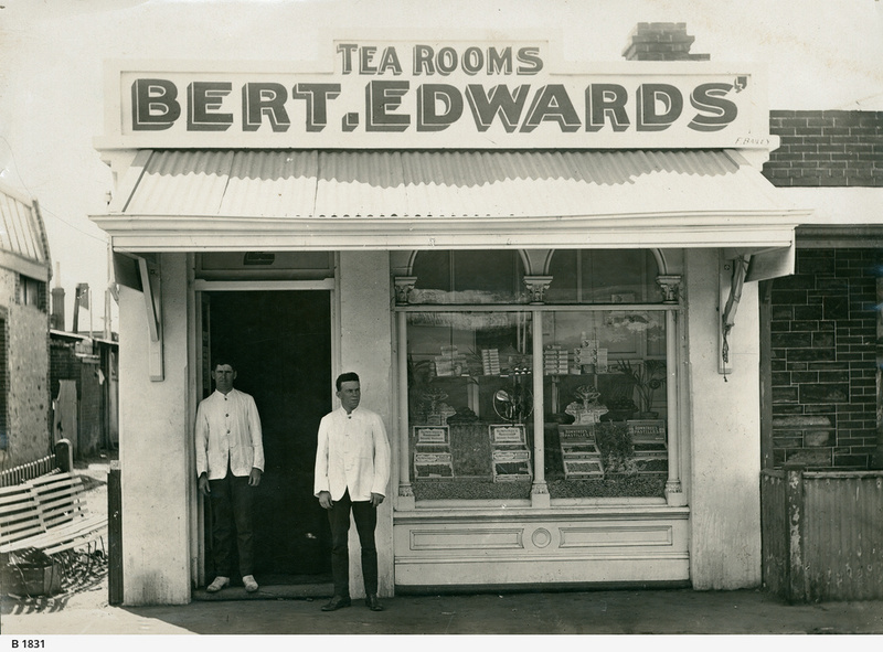 Bert Edward's Tea Rooms, 1912