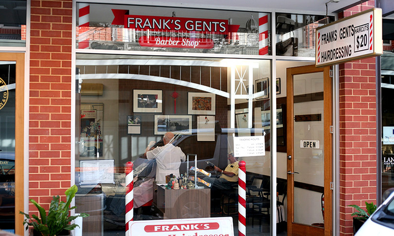 Frank's Gents Barber Shop on Vardon Avenue