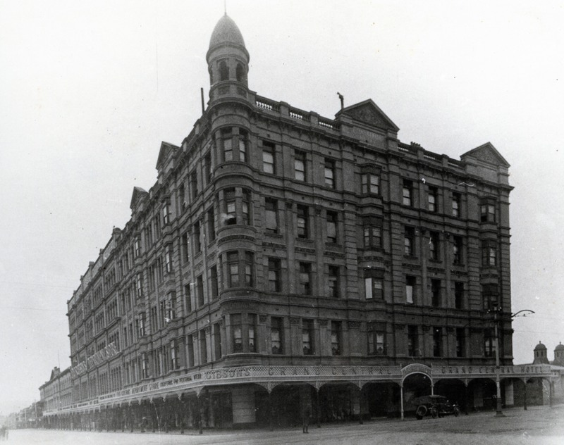 Grand Central Hotel, corner of Rundle Street and Pulteney Street.