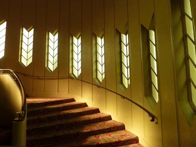 Picadilly Cinema's staircase and windows