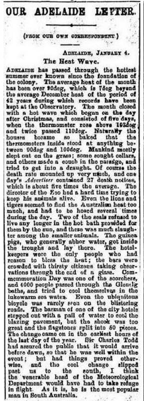 'The Heatwave', January 1898